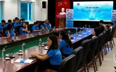 Bảo hiểm xã hội và Bưu điện tỉnh tham dự và tổ chức buổi Lễ ra quân.