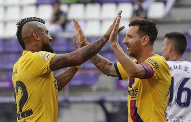 Messi kiến tạo để Vidal ghi bàn mang chiến thắng về cho Barcelona.