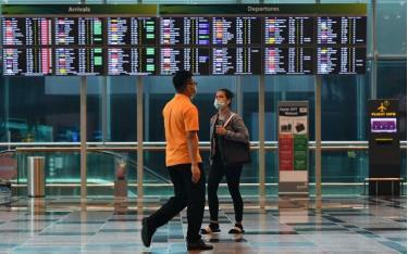 Sân bay Singapore mùa Covid-19.