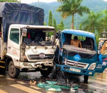 Chiếc xe bán tải liên quan trong vụ tai nạn