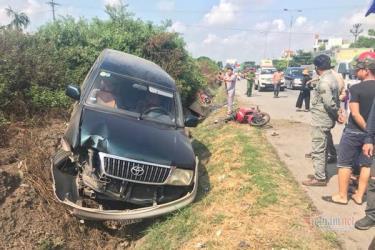 Hiện trường vụ tai nạn khiến người phụ nữ tử vong tại chỗ