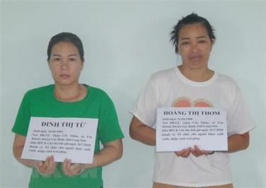 Hai đối tượng tổ chức đưa đón người xuất nhập cảnh trái phép vào Việt Nam bị lực lượng biên phòng Chi Ma bắt giữ.