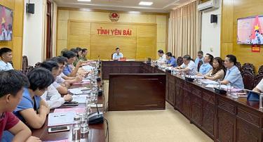 Các đại biểu tham dự Hội nghị tại điểm cầu tỉnh Yên Bái.