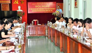 Hội nghị lấy ý kiến của các doanh nghiệp, doanh nhân góp ý vào dự thảo Báo cáo chính trị Đại hội Đảng bộ tỉnh Yên Bái lần thứ XIX, nhiệm kỳ 2020 - 2025.