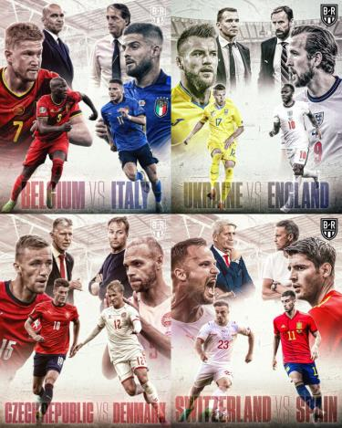 Lịch thi đấu tứ kết UEFA EURO 2020 trực tiếp trên VTV