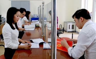Bộ phận một cửa tại Phòng Đăng ký kinh doanh, Sở Kế hoạch – Đầu tư tỉnh Yên Bái.