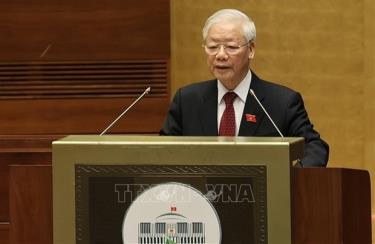 Party General Secretary Nguyen Phu Trong at the event