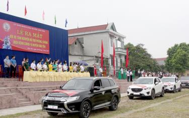 Vehicles of the Volunteer Vehicle Team at the launching ceremony.