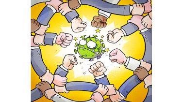 Biếm họa của Báo nhân dân.