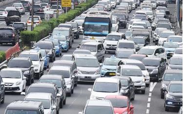 Tắc đường ở Jakarta.