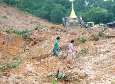 Vụ lở đất gây nhiều thương vong tại Myanmar.