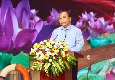 Thủ tướng Nguyễn Xuân Phúc phát biểu tại chương trình.