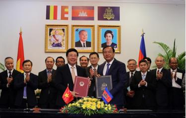 Việt Nam và Campuchai thống nhất nội dung hợp tác 28 lĩnh vực.