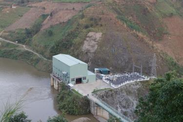 Đập thủy điện Khau Mang Thượng, xã Khau Mang, huyện Mù Cang Chải, tỉnh Yên Bái.