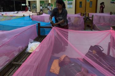 Bệnh nhân nhập viện điều trị tại bệnh viện Angkor.