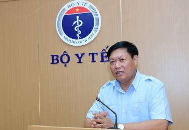 Thứ trưởng Bộ Y tế Đỗ Xuân Tuyên phát biểu tại Lễ tiếp nhận.