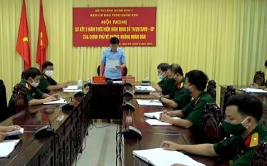 Phó Chủ tịch UBND tỉnh Nguyễn Chiến Thắng phát biểu tham luận tại Hội nghị.