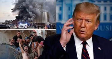Tổng thống Trump mô tả vụ nổ ở Lebanon trông giống như một
