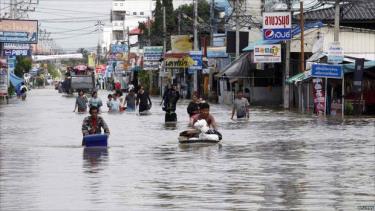 Một đợt lũ lụt tại Thái Lan.