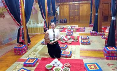 Mô hình homstay của hội viên phụ nữ huyện Trạm Tấu. (Ảnh: Minh Huyền)