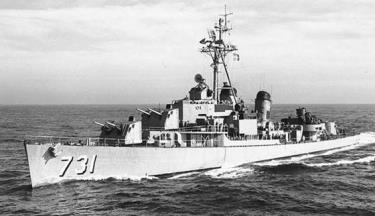 """Khu trục hạm Maddox của Mỹ- """"thủ phạm"""" gây ra sự kiện vịnh Bắc Bộ (ảnh tư liệu)"""