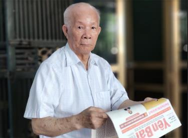 Cụ Phạm Kiểm - cựu cán bộ Công an tỉnh Yên Bái, người trực tiếp tham gia Chuyên án KL46.