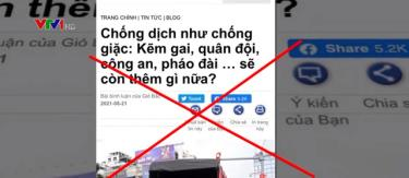Nhiều tài khoản mạng xã hội cố tình xuyên tạc về lực lượng phòng chống dịch