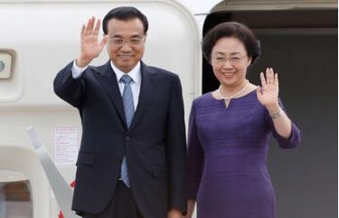 Thủ tướng Trung Quốc Lý Khắc Cường và phu nhân Trịnh Hồng.