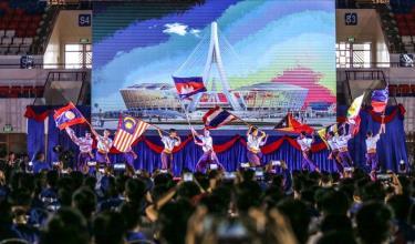 Sân vận động 65.000 chỗ ngồi đang xây dựng của Campuchia sẽ hoàn thành vào năm 2020.