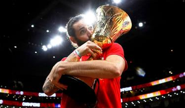 Rubio mừng chức vô địch World Cup thứ hai của Tây Ban Nha.