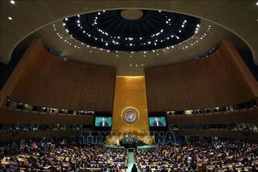Toàn cảnh khóa họp 73 Đại hội đồng Liên hợp quốc ở New York, Mỹ, ngày 25/9/2018.