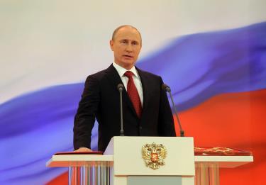 Tổng thống Nga V. Putin đọc lời tuyên thệ tại Lễ nhậm chức Tổng thống Nga nhiệm kỳ 2018 - 2024