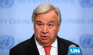 Tổng thư ký Liên Hợp Quốc Antonio Guterres tại Mỹ hồi tháng 8.