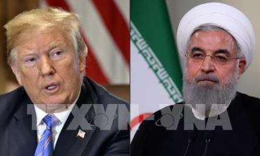 Tổng thống Mỹ Donald Trump (phải) và Tổng thống Iran Hassan Rouhani (phải).