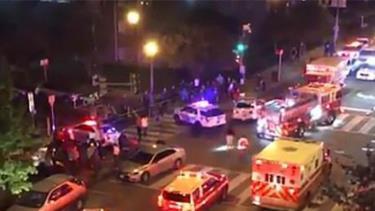 Vụ việc xảy ra tại điểm giao cắt giữa phố 14 và phố Columbia.