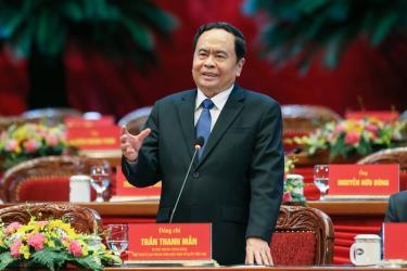 Ông Trần Thanh Mẫn, Bí thư Trung ương Đảng, Chủ tịch Ủy ban Trung ương MTTQ Việt Nam Khóa VIII tái cử giữ chức vụ Chủ tịch Ủy ban Trung ương MTTQ Việt Nam Khóa IX.