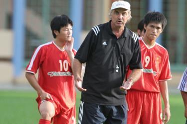 Ông Alfred Riedl khi còn là huấn luyện viên đội tuyển Việt Nam
