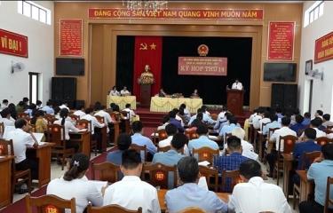 Quang cảnh Kỳ họp thứ 14, HĐND huyện Trấn Yên khóa XX.