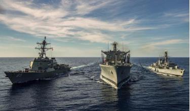Tàu chiến HMS Argyll của Hải quân Anh tham gia diễn tập với Hải quân Mỹ ở Biển Đông hồi tháng 1/2019.