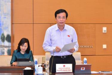 Tổng Thư ký Quốc hội, Chủ nhiệm Văn phòng Quốc hội Nguyễn Hạnh Phúc.