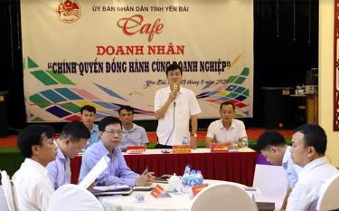 Đồng chí Nguyễn Chiến Thắng - Ủy viên Ban Thường vụ Tỉnh ủy, Phó Chủ tịch UBND tỉnh phát biểu tại buổi gặp mặt.