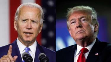 Ứng viên đảng Dân chủ Joe Biden và Tổng thống Mỹ Donald Trump.