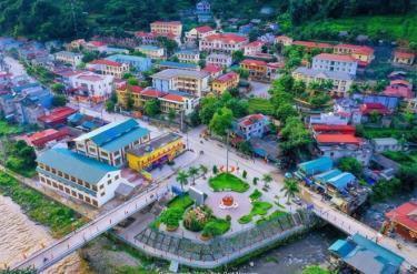Trung tâm thị trấn Mù Cang Chải.