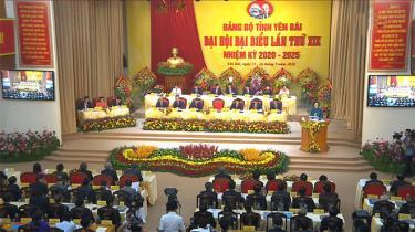 Quang cảnh Đại hội đại biểu tỉnh Yên Bái khóa XIX.