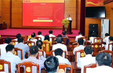 Đảng bộ thành phố Yên Bái tổ chức quán triệt Nghị quyết Đại hội Đảng bộ tỉnh lần thứ XIX, nhiệm kỳ 2020 - 2025.