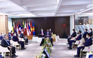 The first face-to-face meeting between ASEAN Leaders takes place in April 2021 after nearly 18 months of online meetings due to the COVID-19 pandemic. (Illustrative photo)