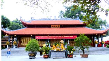A panorama of Dong Cuong Temple.
