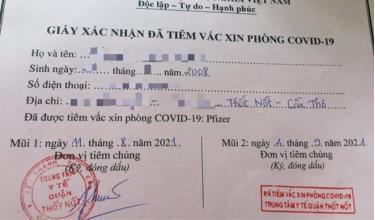 Thông tin bé 13 tuổi tiêm hai mũi vaccine phòng COVID-19 được lãnh đạo quận Thốt Nốt xác định là chính xác. Ảnh: MXH