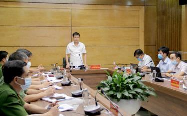 Lãnh đạo Văn phòng UBND tỉnh phát biểu kết luận Hội nghị.