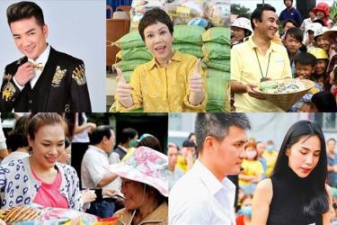 Nghệ sĩ Việt làm từ thiện.